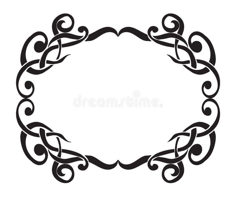 Art Nouveau decorative monochrome square frame with text place. Art Nouveau decorative monochrome frame with text place stock illustration