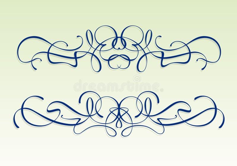 Art nouveau design elements royalty free stock images