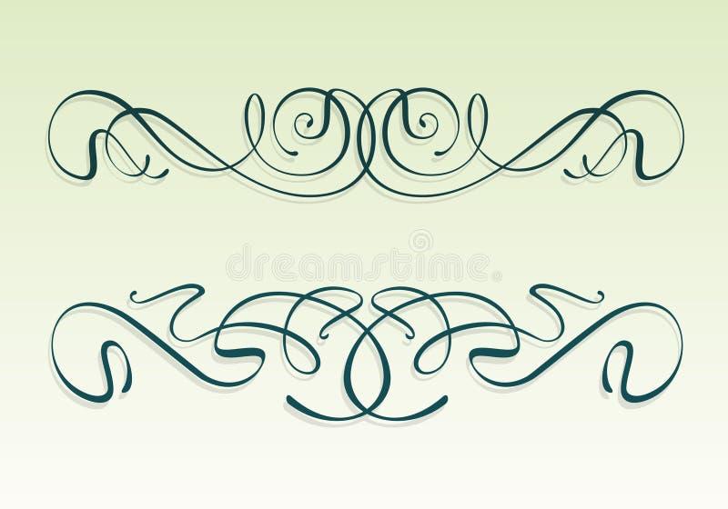 Art nouveau design elements stock image