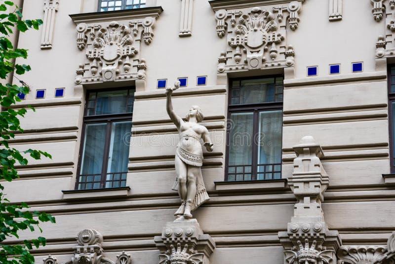 Art Nouveau District Jugendstil in Riga stock images