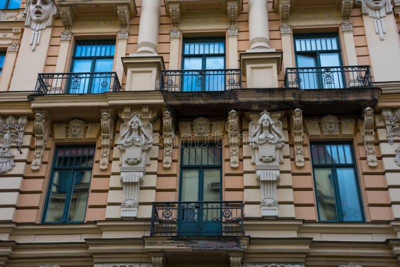 Art Nouveau District Jugendstil in Riga stock photo