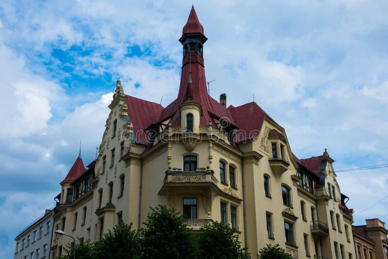 Art Nouveau District Jugendstil in Riga royalty free stock images