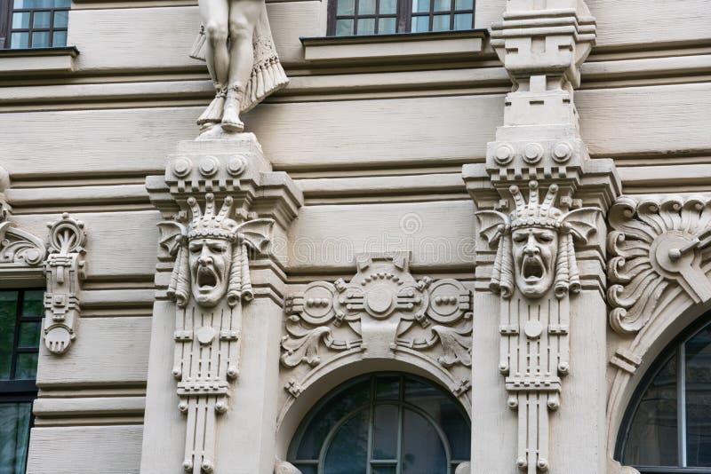 Art Nouveau District Jugendstil in Riga royalty free stock image