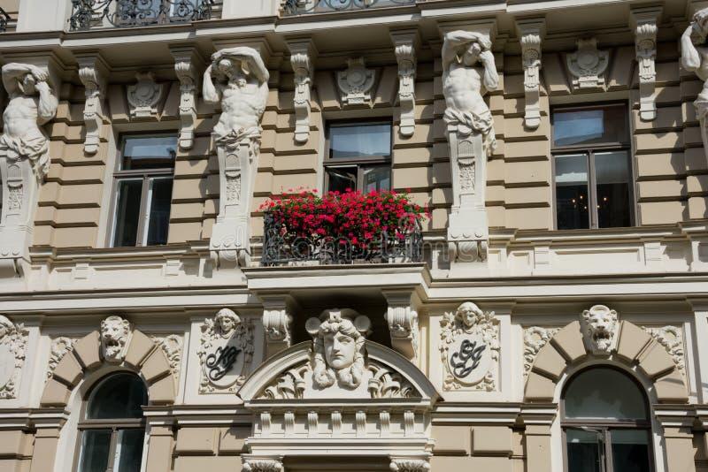 Art Nouveau District Jugendstil in Riga stock photography