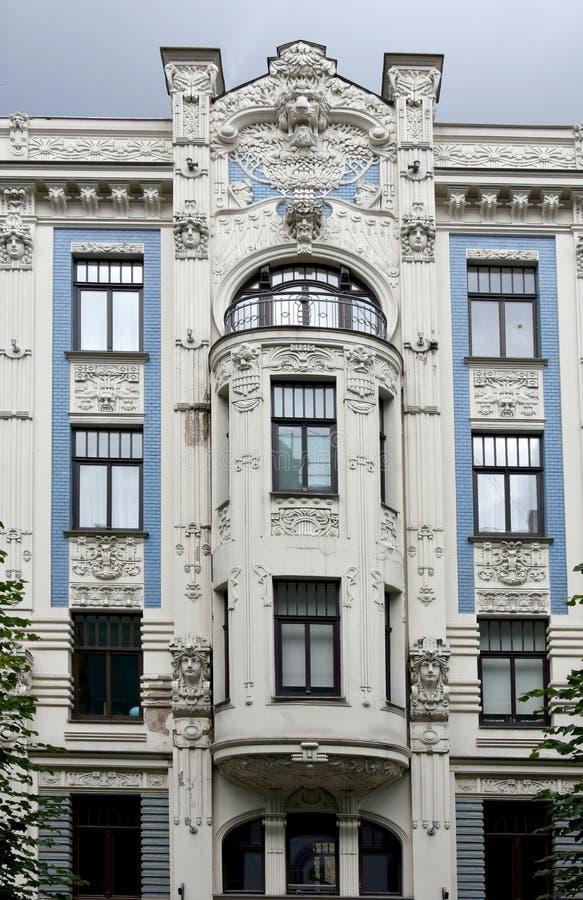 Art nouveau district in Riga, Latvia stock photos