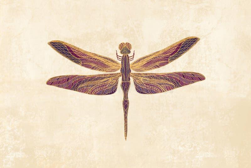 Art Nouveau Dragonfly arkivbild