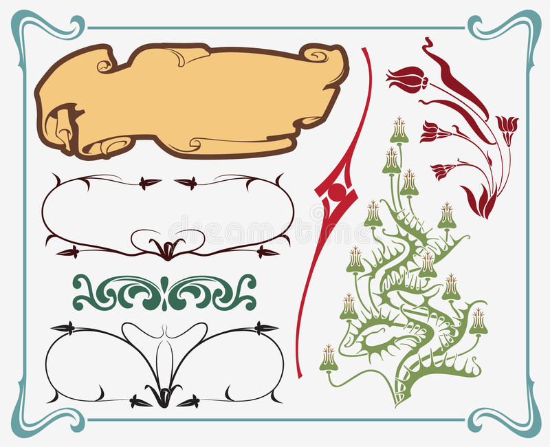 Art-nouveau element stock illustration