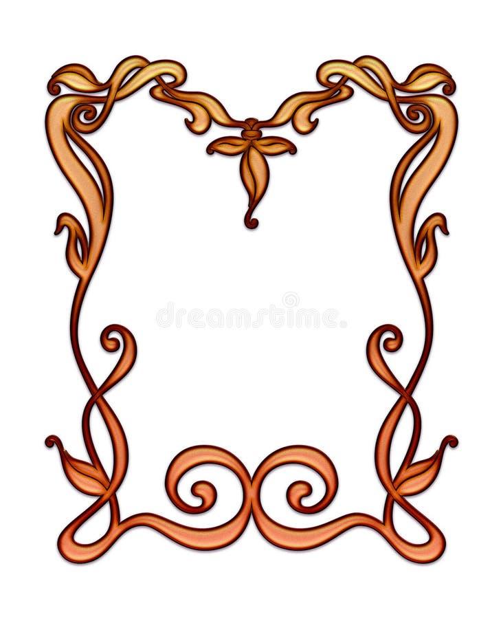 Art Nouveau, en delikat, handritad ram, lafé med utrymme för kopiering eller grafik vektor illustrationer