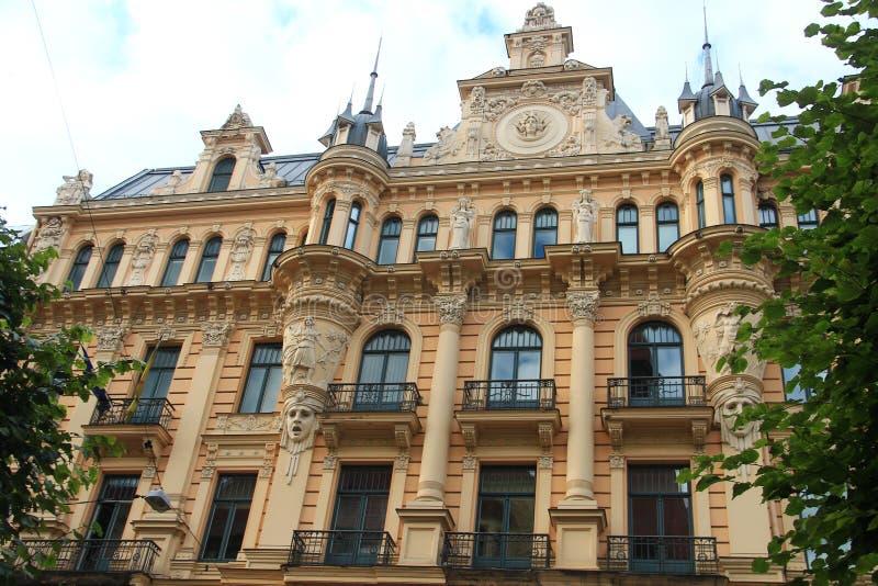 Art Nouveau en Riga fotografía de archivo libre de regalías