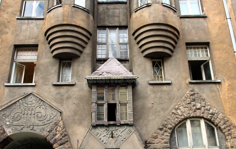 Art Nouveau en Riga fotografía de archivo