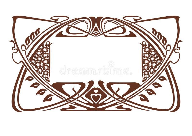 Art Nouveau frame vector illustration