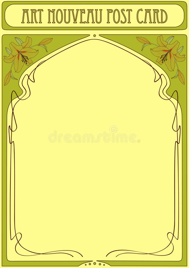 Art Nouveau Frame with space for text stock illustration