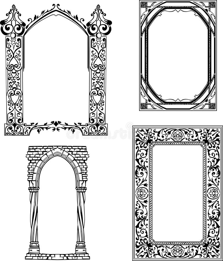 Art Nouveau frames stock vector. Illustration of arch - 24740530