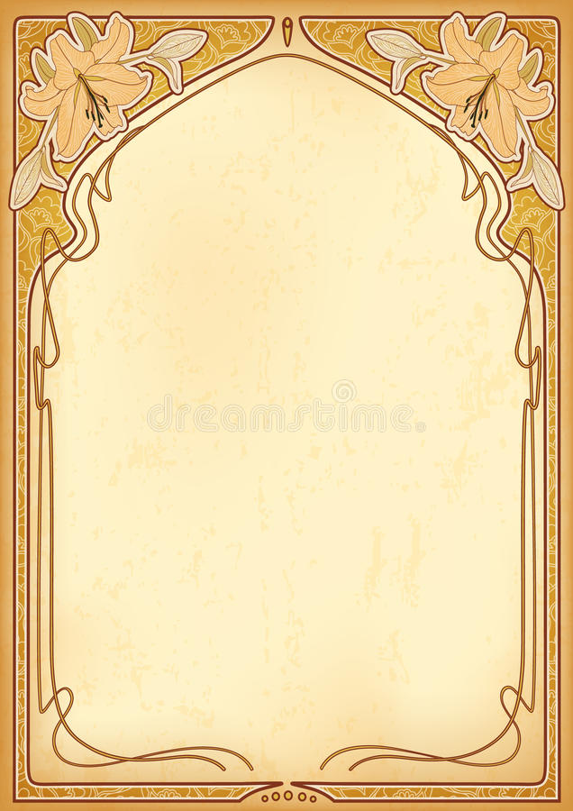Art Nouveau Frames With Space For Text. Stock Vector - Illustration ...