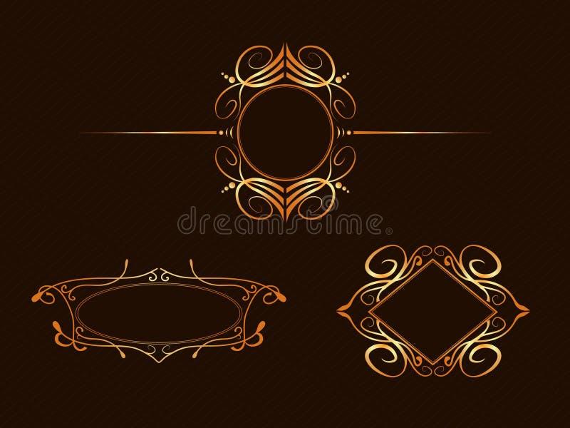 Art nouveau frames stock illustration