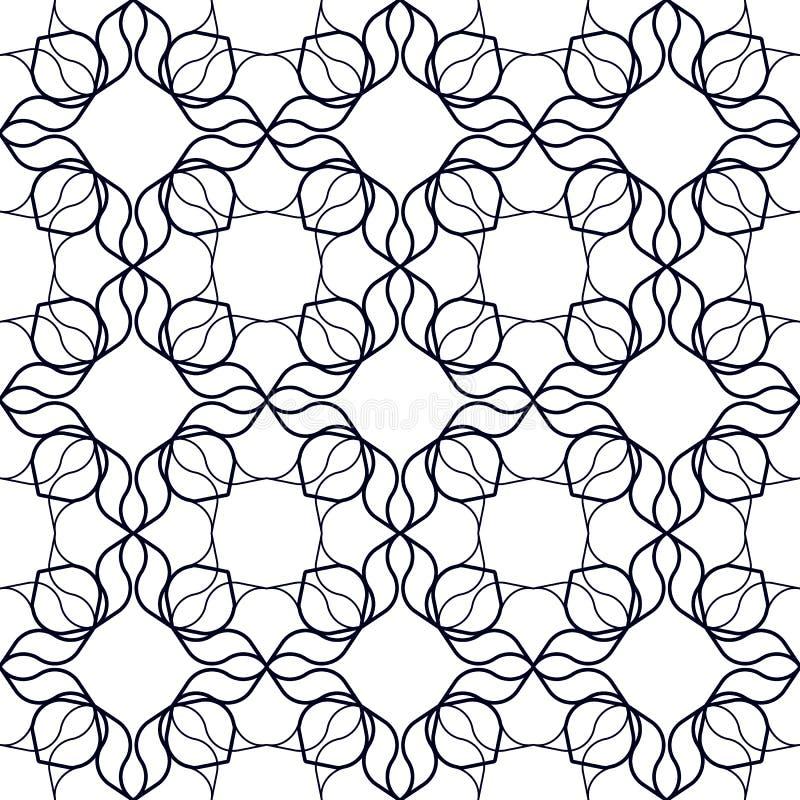 Art Nouveau Linear Pattern royaltyfri illustrationer