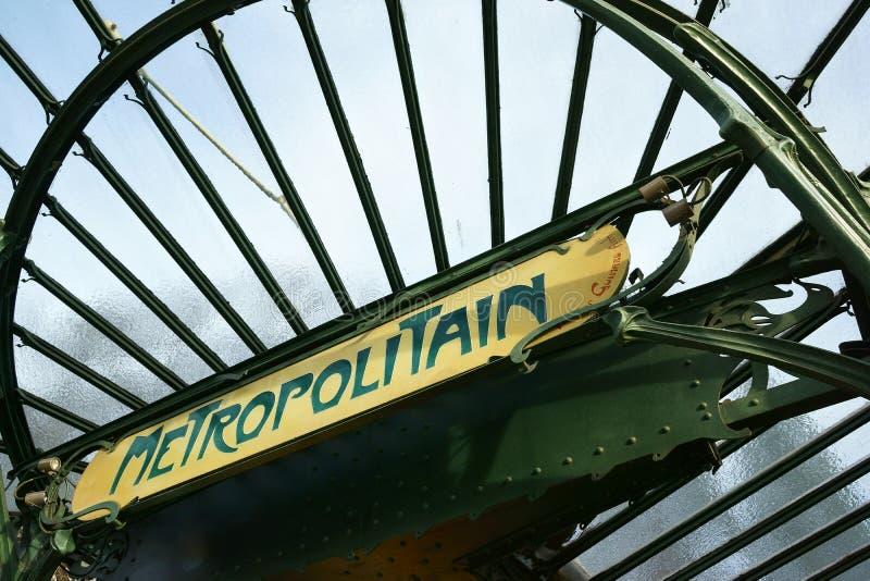 Art Nouveau Metro Station Paris Editorial Photography - Image of ...