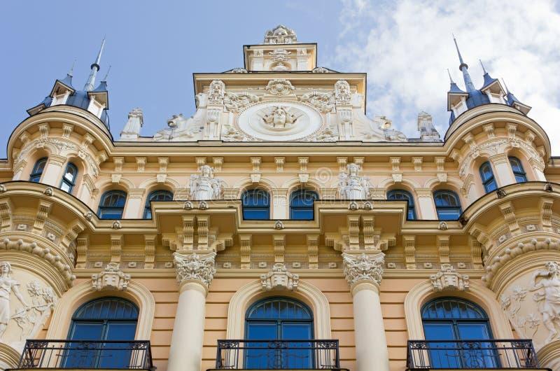 Art Nouveau Palace em Riga fotos de stock
