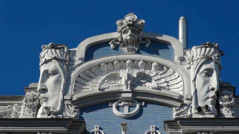 Art Nouveau in Riga stock foto's