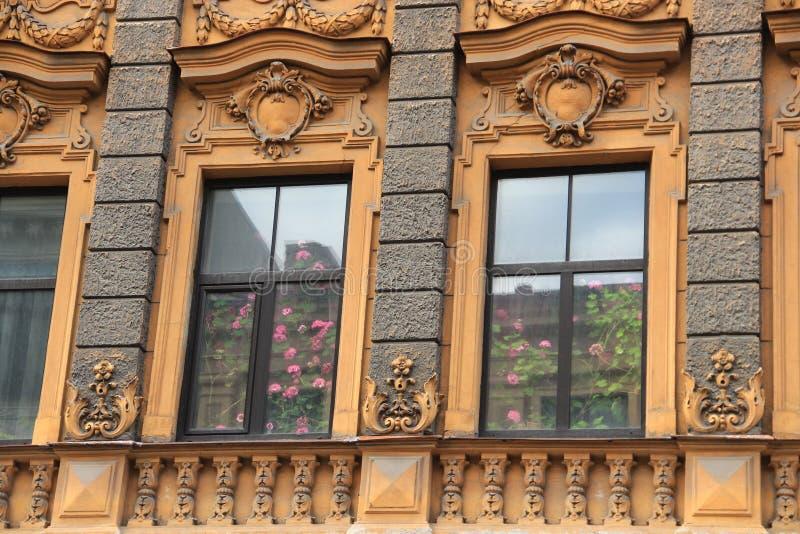 Art Nouveau in Riga stock foto