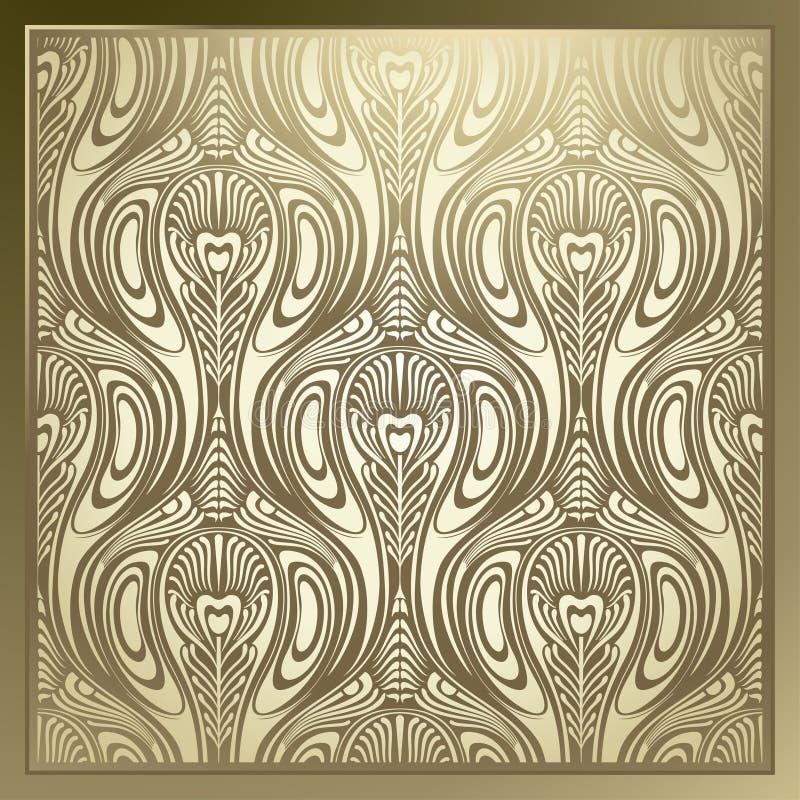 Art Nouveau sem emenda ilustração stock