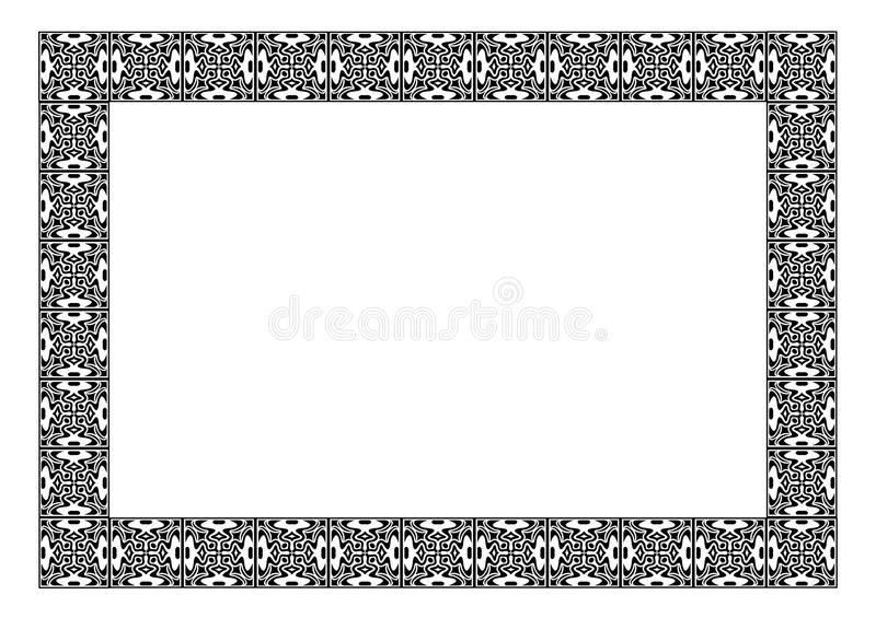 Download Art nouveau simple  frame stock vector. Image of draw - 21644105