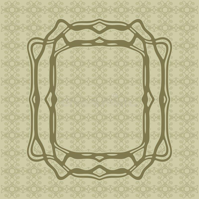 Art Nouveau släta linjer dekorativ rektangelvektorram för design Art Deco Style Border stock illustrationer