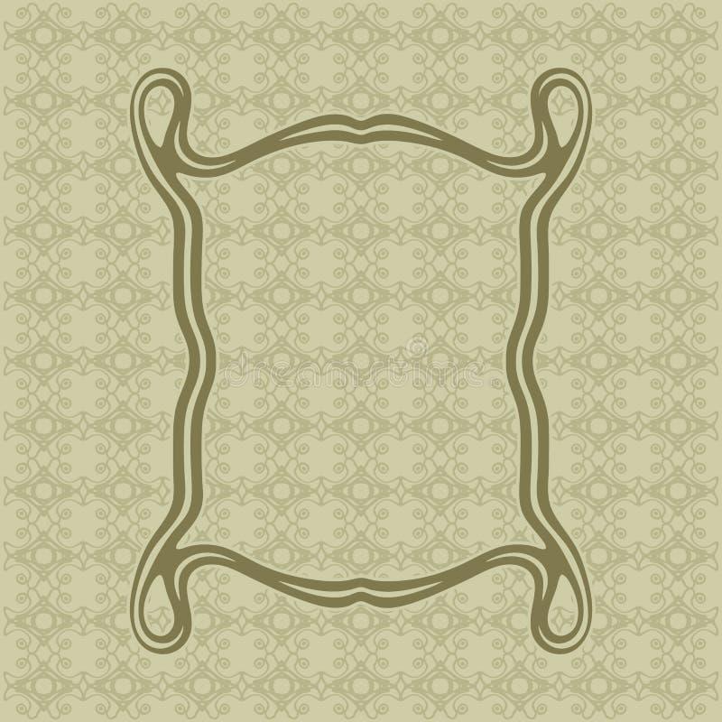 Art Nouveau smooth lines decorative rectangle vector frame for design. Art Deco style border vector illustration