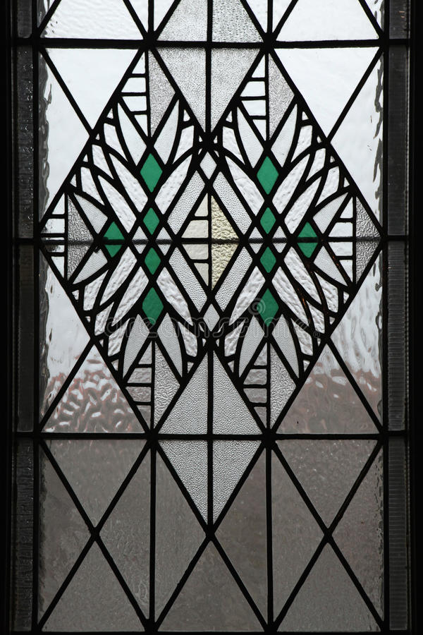 Art Nouveau stained glass window in Hradec Kralove. Art Nouveau stained glass window in Hradec Kralove, Czech Republic stock images