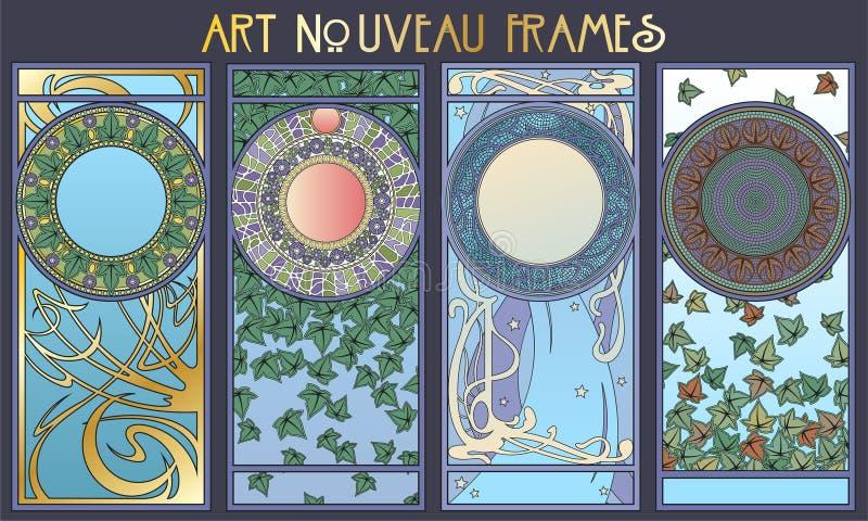 Art Nouveau Styel Decorative Frames stock abbildung