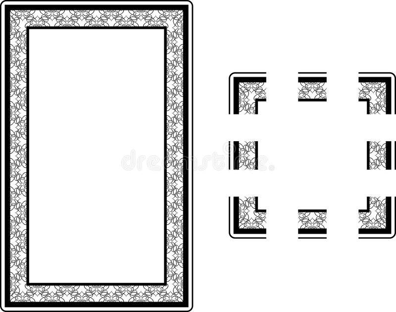 Art Nouveau Style border frame stock illustration