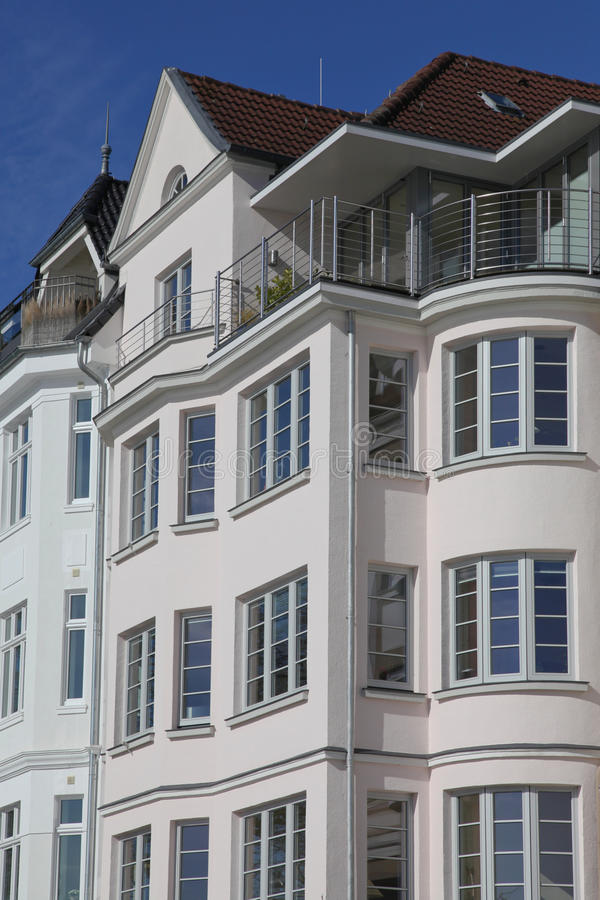 Art nouveau style house in Kiel, Germany. Details of an art nouveau style house in Kiel, Germany royalty free stock images