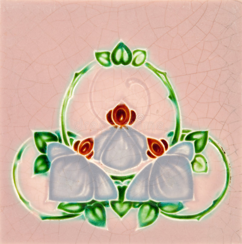 Art Nouveau Tile royalty free stock photo