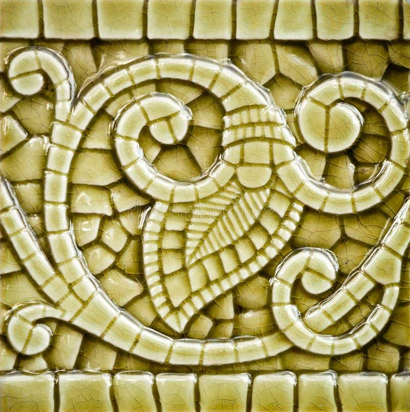 Art Nouveau Tile Dating idoso de antes de 1906 imagens de stock royalty free