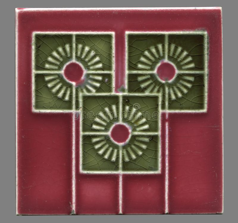 Art Nouveau tile between 1900-1930 from Germany royalty free stock images