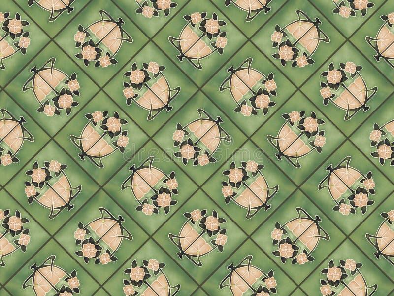 Art nouveau tiles royalty free stock image