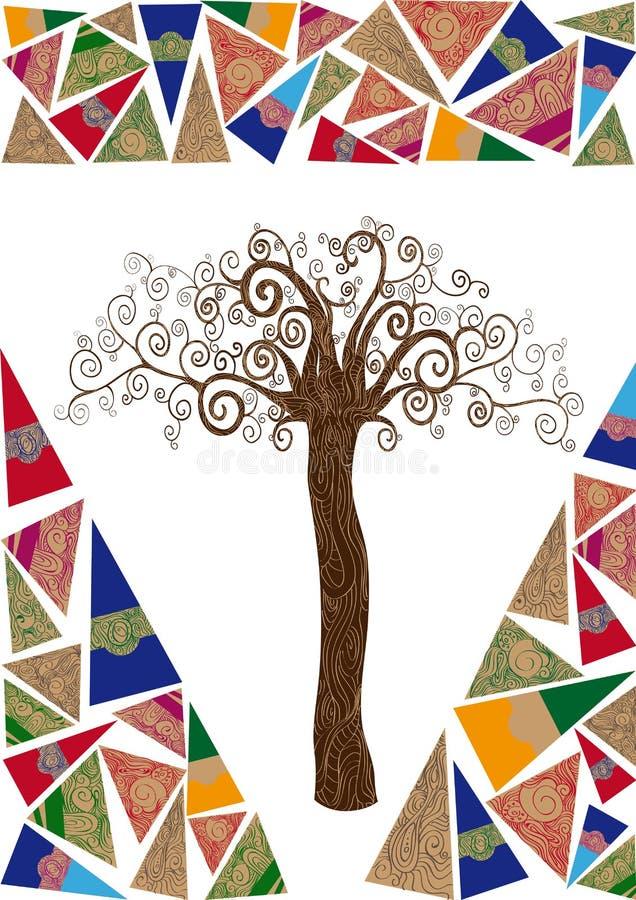 Art noveau tree idea stock photos