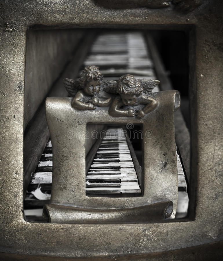 Art Old piano stock photos