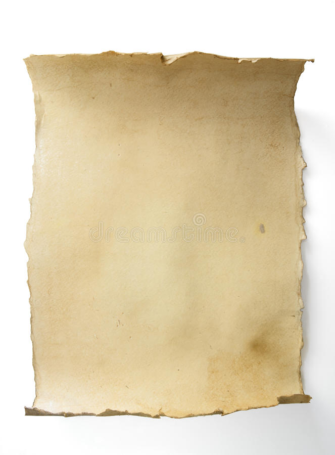 Art old scroll. The Art old paper scroll royalty free stock photography