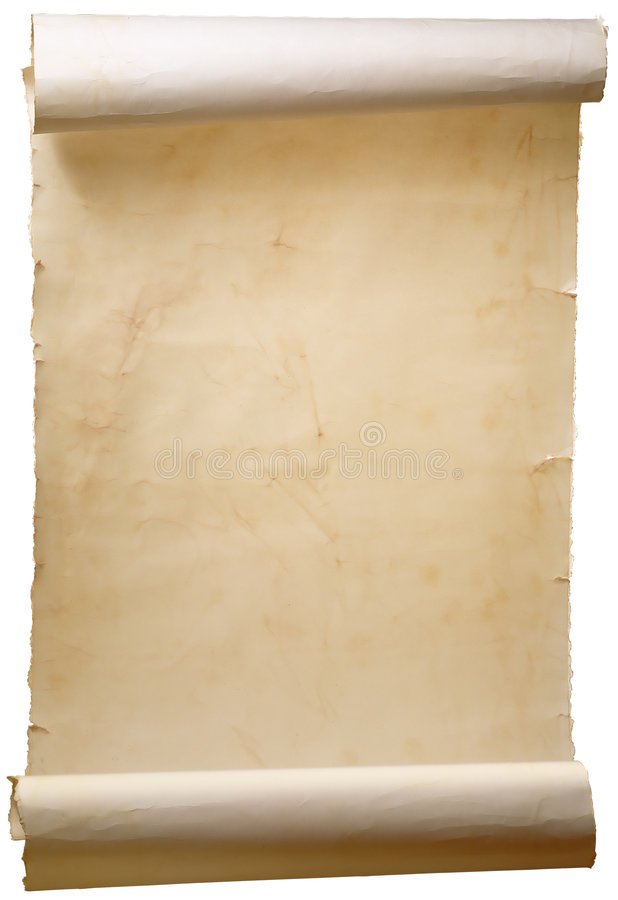 Art old scroll. On a white background stock image