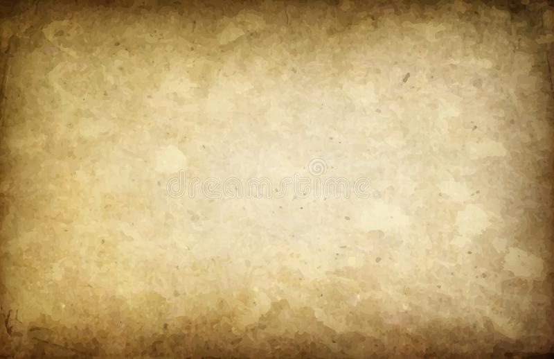 Art Old Yellowed Paper Background illustration stock