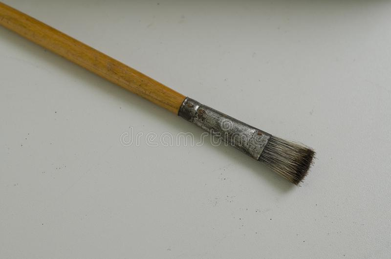 Art paint brush. On the table royalty free stock photos
