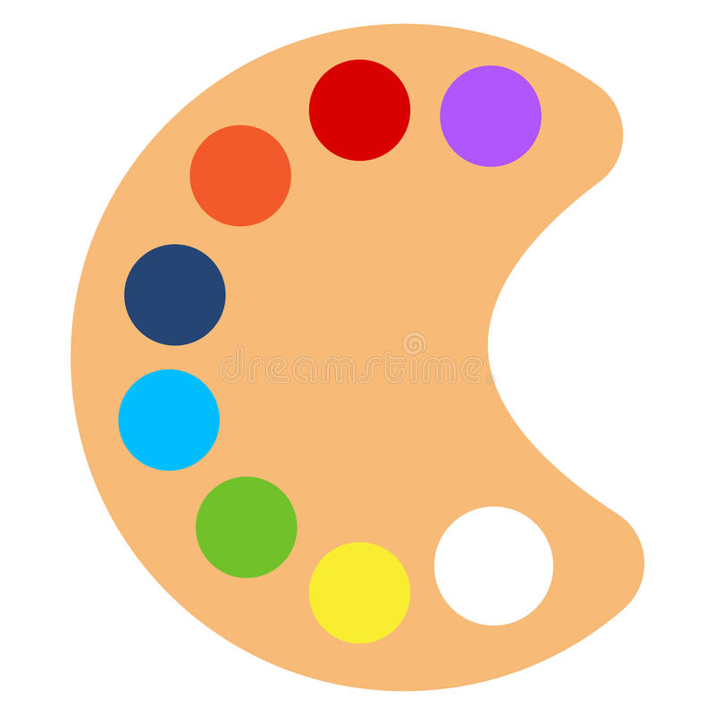 Art paint pallette icon, vector illustration royalty free illustration