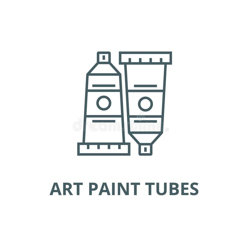 Art paint tubes line icon, vector. Art paint tubes outline sign, concept symbol, flat illustration vector illustration