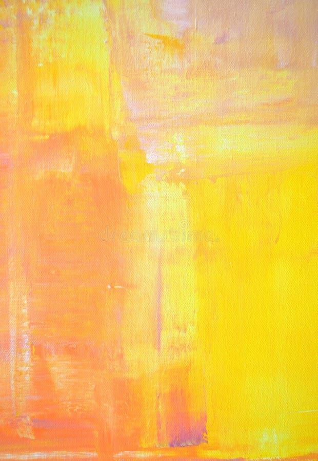 Art Painting abstracto amarillo y anaranjado imagen de archivo libre de regalías
