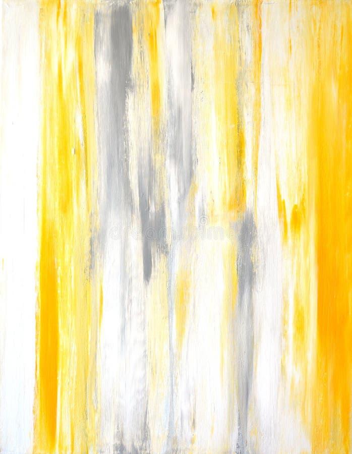 Art Painting abstracto gris y amarillo fotografía de archivo libre de regalías