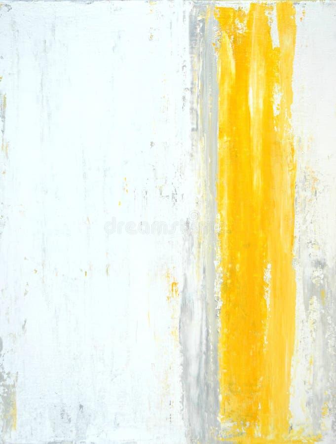 Art Painting abstracto gris y amarillo fotografía de archivo