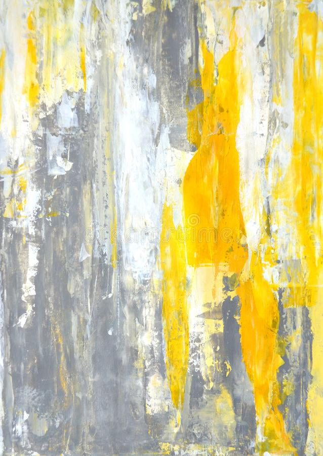 Art Painting abstrait gris et jaune illustration de vecteur