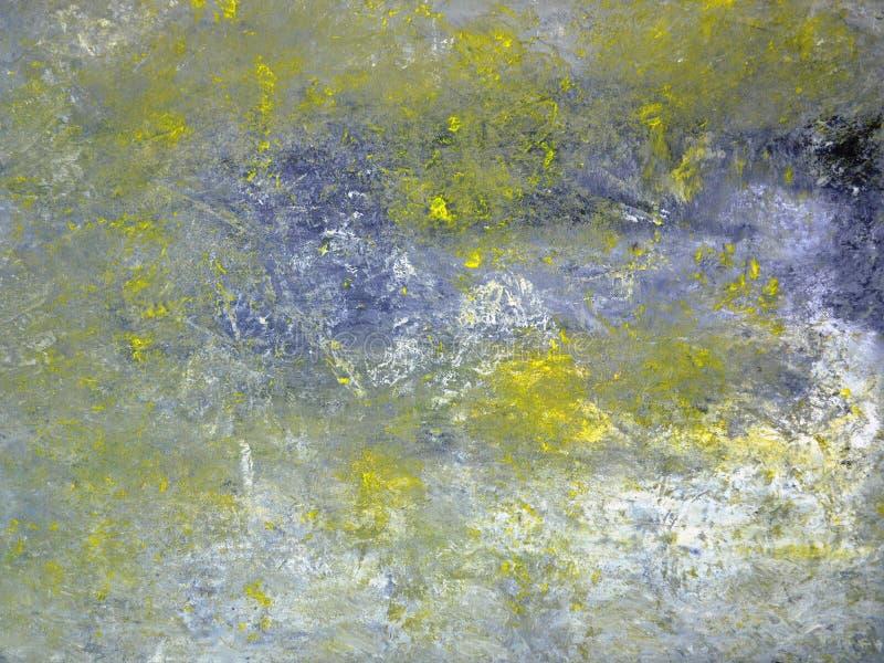 Art Painting abstrato cinzento e amarelo fotografia de stock royalty free