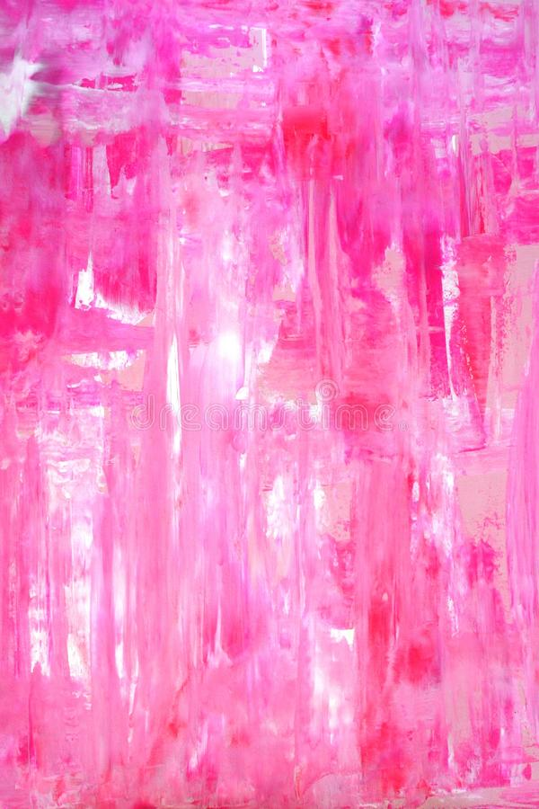 Art Painting abstrato cor-de-rosa imagem de stock